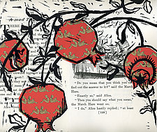 Pomegranate VII by Ouida  Touchon (Woodcut Print)