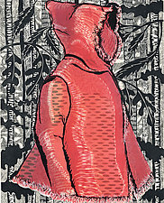 Lil Red in the Black Forest by Ouida  Touchon (Woodcut Print)