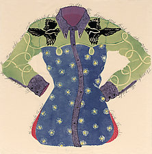 Midnight Cowgirl by Ouida  Touchon (Woodcut Print)