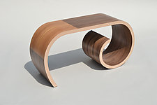 Small Toboggan Bench by Kino Guerin (Wood Bench)