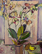 Wild Orchid and Lemon by Lila Bacon (Acrylic Painting)