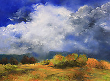 Williston, Vermont Clouds by Judy Hawkins (Oil Painting)