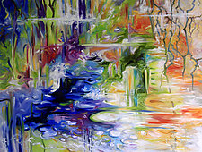 Pond Treasures by Judy Hawkins (Oil Painting)