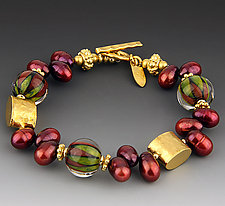 Pomegranate Bracelet by Dianne Zack (Beaded Bracelet)