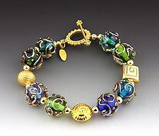 Florentine Bracelet in Blue by Dianne Zack (Beaded Bracelet)
