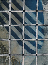 Tallis and Fence #11 by Jeanne Williamson  (Mixed-Media Painting)
