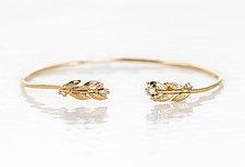 Diamond Ivy Cuff Bracelet by Melanie Casey (Gold & Stone Bracelet)