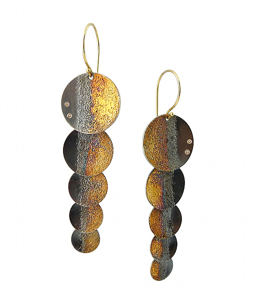 Gold Shadow Shimmer Earrings
