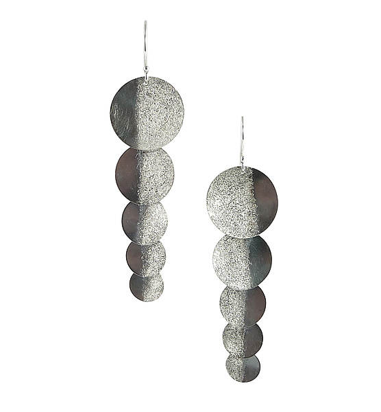 Silver Shadow Shimmer Earrings