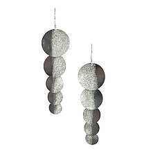 Silver Shadow Shimmer Earrings by Jenny Reeves (Silver Earrings)