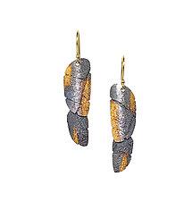 Bedrock Shimmer Earrings by Jenny Reeves (Gold & Silver Earrings)