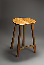 Grafton Stool by David Kellum (Wood Stool)