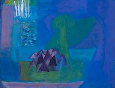 Across The Village by Heidi Daub (Acrylic Painting)