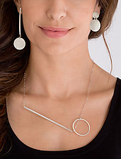 Asymmetrical Jewelry by Rina S. Young (Silver Necklace)