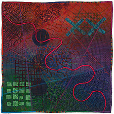 Mapforms #3 by Michele Hardy (Fiber Wall Art)