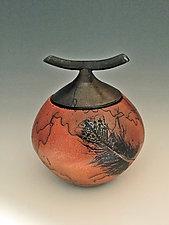 Horsehair Vessel by David Gordon (Ceramic Vessel)