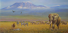 Conflict near Kilimanjaro by Werner Rentsch (Oil Painting)
