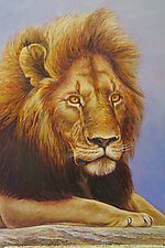 Lion Head by Werner Rentsch (Oil Painting)