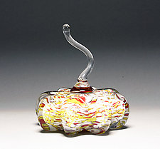 Speckled Gold Pumpkin by Scott Summerfield (Art Glass Sculpture)