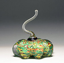 Speckled Green Pumpkin by Scott Summerfield (Art Glass Sculpture)
