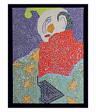 The Jester by Nancy Pollock (Mosaic Wall Sculpture)