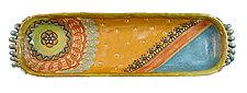 La Mesa de Esperanza Long Boat by Laurie Pollpeter Eskenazi (Ceramic Tray)