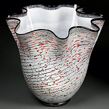 Zymova Vyshnya (Winter Cherries) by Eric Bladholm (Art Glass Bowl)
