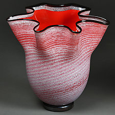 Chervonyy Moroz (Red Frost) Bowl by Eric Bladholm (Art Glass Bowl)