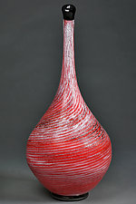 Chervonyy Moroz (Red Frost) by Eric Bladholm (Art Glass Vessel)