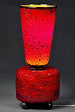 Fall Flare by Eric Bladholm (Art Glass Table Lamp)