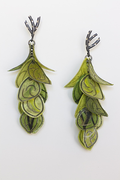 Green Flip Earrings
