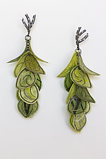 Green Flip Earrings by Carol Windsor (Silver & Paper Earrings)