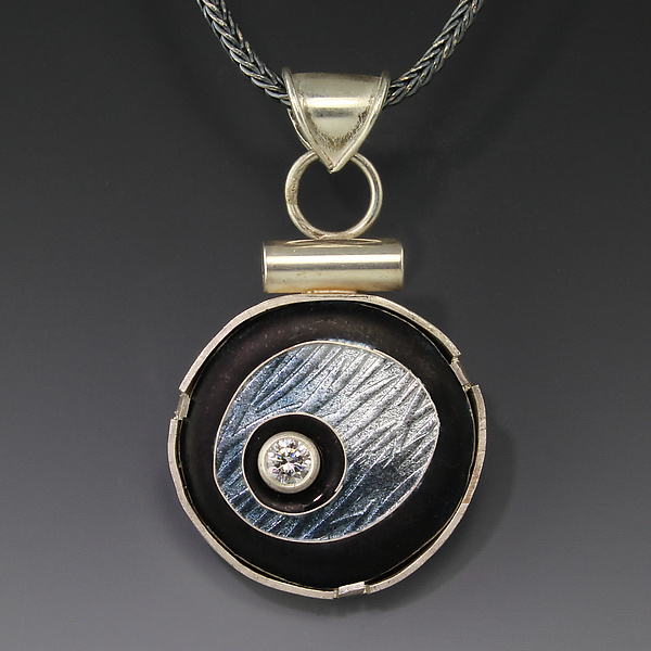 Gray Floating Circle Pendant