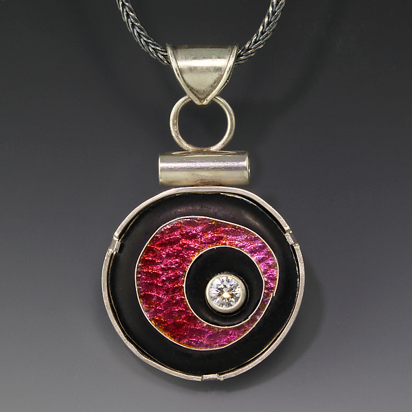Pink Floating Circle Pendant