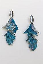 Turquoise Flip Earrings by Carol Windsor (Silver & Paper Earrings)