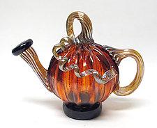 Aurora Teapot by Ken Hanson and Ingrid Hanson (Art Glass Teapot)