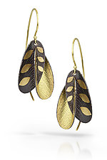Black Blossoms by Christine Mackellar (Gold & Silver Earrings)