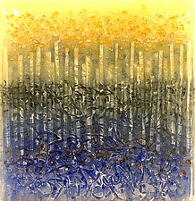 Exposure To Rain by Carol Carson (Art Glass Wall Sculpture)