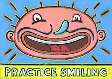 Practice Smiling by Hal Mayforth (Giclee Print)