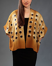 Dot Grid Silk Jacket by Laura Hunter  (Silk Jacket)
