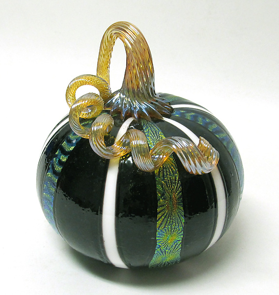 Black and White Dichroic Pumpkin