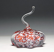 Speckled Pumpkin by Scott Summerfield (Art Glass Sculpture)