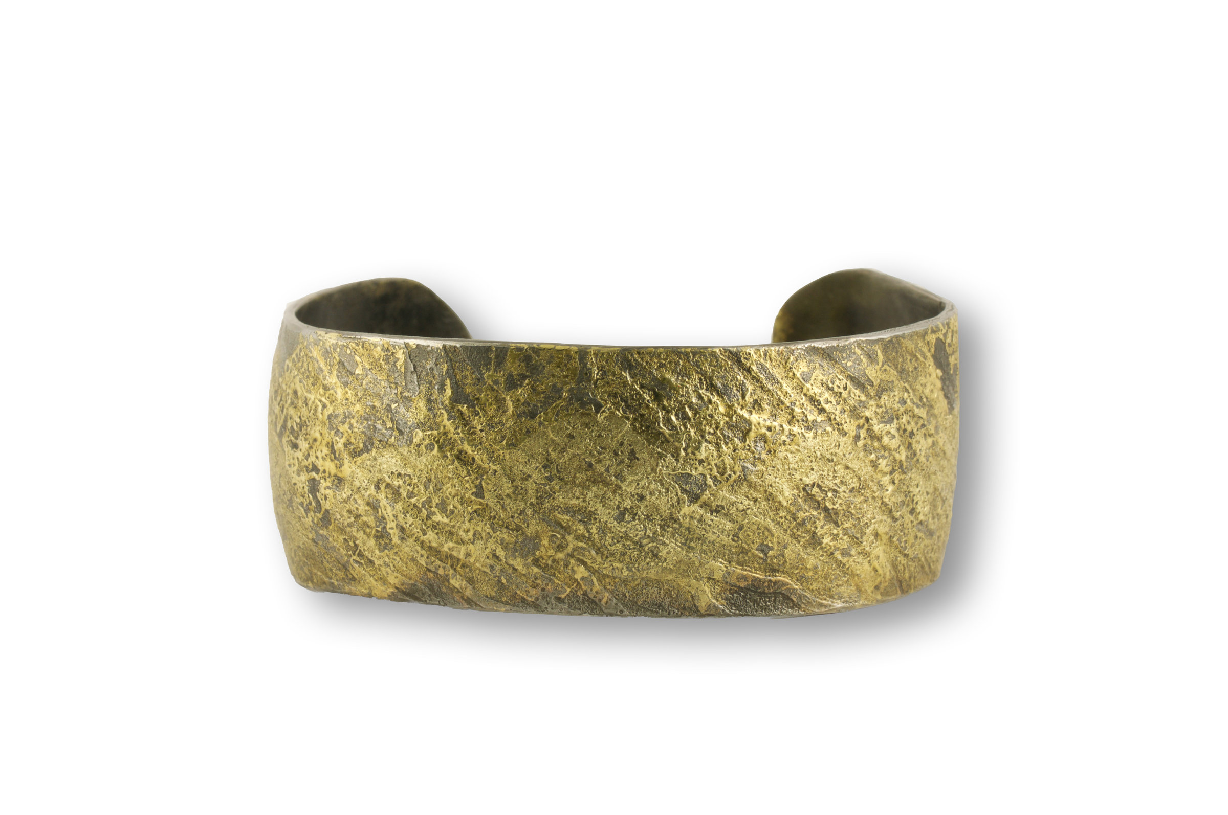 Artful Home Water Flow Cuff By Susan Ronan Gold Steel Bracelet Artful Home