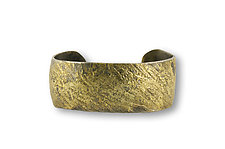 Water Flow Cuff by Susan Ronan (Gold & Steel Bracelet)