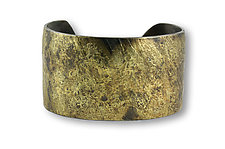 Wide Water Flow Cuff by Susan Ronan (Gold & Steel Bracelet)