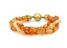 Autumn Colors Beaded Bracelet by Pamela Huizenga  (Beaded Bracelet)