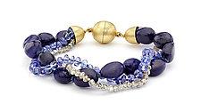 Tanzanite & Lapis Beaded Bracelet by Pamela Huizenga  (Beaded Bracelet)
