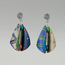 Wings Teardrop Patterns 1 by Arden Bardol (Polymer Clay Earrings)