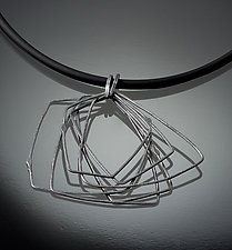 Cosmos Necklace #5 by Jennifer Bauser (Silver Necklace)
