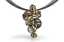 Descending Blossom by Christine MacKellar (Gold, Silver, & Stone Necklace)